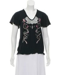 Just Cavalli - Short Sleeve Embellished Top - Lyst