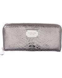 Michael Kors - Embossed Leather Wallet - Lyst