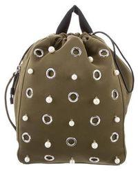 3.1 Phillip Lim - Embellished Drawstring Backpack Olive - Lyst