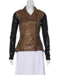 VEDA - Bicolor Leather Jacket - Lyst