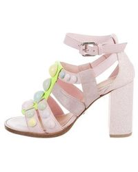 Markus Lupfer - Embellished High-heel Sandals - Lyst