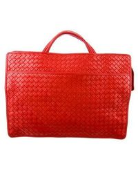 8e34b1f14127 Lyst - Bottega Veneta Intrecciato Leather Briefcase in Gray