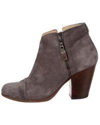 Rag & Bone - Margot Suede Ankle Boots Grey - Lyst