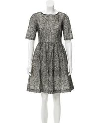 Peter Som - Embroidered Mini Dress - Lyst