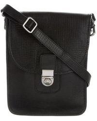 Ghurka - Embossed Leather Crossbody Bag Black - Lyst