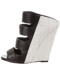 Narciso Rodriguez - Leather Wedge Sandals - Lyst