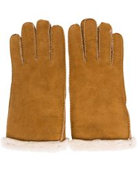 UGG - Shearling-trimmed Suede Gloves - Lyst