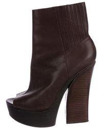 Rachel Zoe - Peep-toe Platform Ankle Boots - Lyst