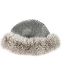 Loro Piana - Fur-trimmed Cashmere Beanie Grey - Lyst