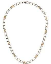 Tiffany & Co. - Two-tone Curb Chain Necklace Silver - Lyst