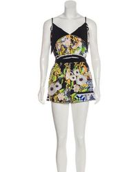 Clover Canyon - Abstract Print Sleeveless Romper Pattern Prints - Lyst