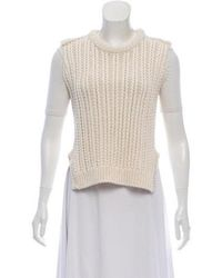 Hache - Cropped Sweater Vest W/ Tags Neutrals - Lyst