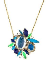 Erickson Beamon - Crystal Cluster Pendant Necklace Gold - Lyst