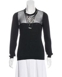 Moschino - Virgin Wool Chain-link Sweater - Lyst