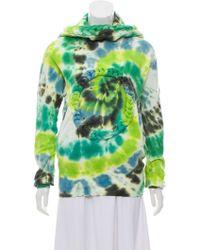 Bernhard Willhelm - Tie-dye Hooded Sweatshirt Lime - Lyst
