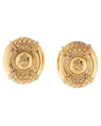 Sonia Rykiel - Textured Clip-on Earrings Gold - Lyst