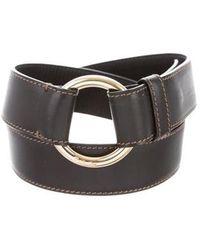 Loro Piana - Leather Buckle Belt Black - Lyst