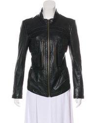 Theyskens' Theory - Leather Long Sleeve Jacket Black - Lyst