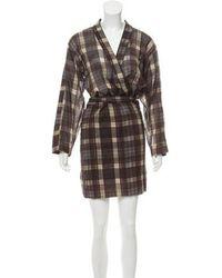 Étoile Isabel Marant - Plaid Knee-length Dress Grey - Lyst