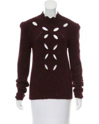 Isabel Marant - 2016 Cutout Sweater Burgundy - Lyst