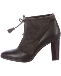 Loro Piana - Suede & Leather Booties - Lyst