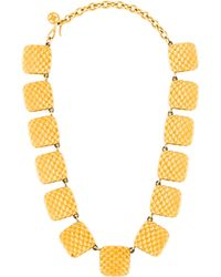 Givenchy - Scaled Square Link Necklace Gold - Lyst