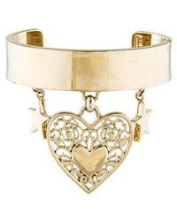 Elie Saab - Heart & Star Charm Cuff Gold - Lyst