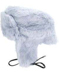 700d8ef332b Lyst - Tasha Tarno Nylon   Genuine Fox Fur Trapper Hat