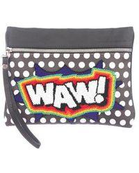 Sarah's Bag - Waw Wristlet Clutch Black - Lyst