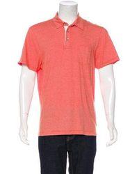 Michael Kors - Striped Polo Shirt Orange - Lyst