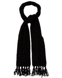 Raquel Allegra - Knit Fringe-trimmed Scarf - Lyst