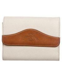 Ghurka - Grained Leather Wallet Brown - Lyst