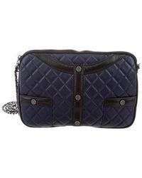 Chanel - 2016 Quilted Girl Clutch Navy - Lyst