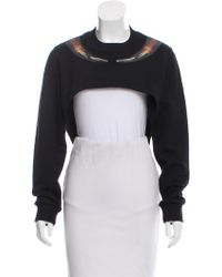 Givenchy - Cropped High-low Sweatshirt - Lyst