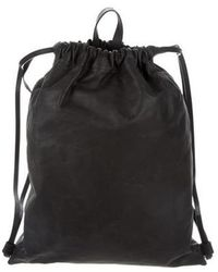 PB 0110 - Smooth Leather Backpack Black - Lyst