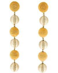 Rebecca de Ravenel - Six Drop Skinny Earrings Gold - Lyst