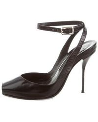 Narciso Rodriguez - Leather Peep-toe Pumps Black - Lyst