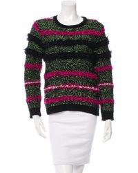 Julien David - Patterned Wool Sweater - Lyst