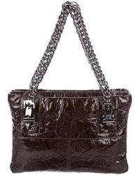 Thomas Wylde - Patent Leather Chain-link Shoulder Bag Brown - Lyst