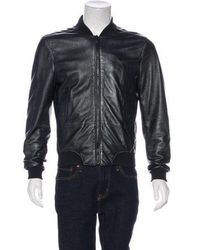 KENZO - Lamb Leather Embroidered Bomber Jacket - Lyst