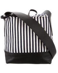 Loeffler Randall - Striped Bucket Bag Navy - Lyst
