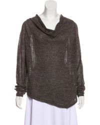 Helmut - Cowl Neck Asymmetrical Sweater Olive - Lyst