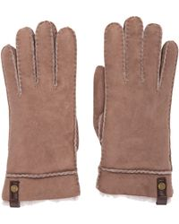 UGG - Tenney Suede Gloves Gold - Lyst
