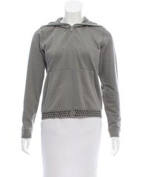 Lucien Pellat Finet - Grommet-embellished Zip-up Sweatshirt - Lyst
