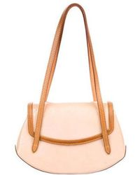 33dc2379b242 Lyst - Louis Vuitton Vernis Thompson Street Bag Yellow in Natural
