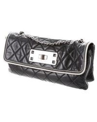 Chanel - E/w Accordion Flap Bag Black - Lyst