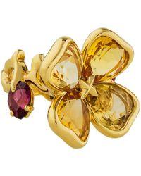 Chanel - Camellia Citrine & Garnet Flower Ring Yellow - Lyst