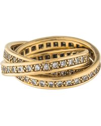 cartier diamond trinity de ring yellow lyst