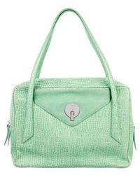 Smythson - Embossed Leather Briefcase Green - Lyst