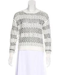 10 Crosby Derek Lam - Patterned Knit Sweater - Lyst
